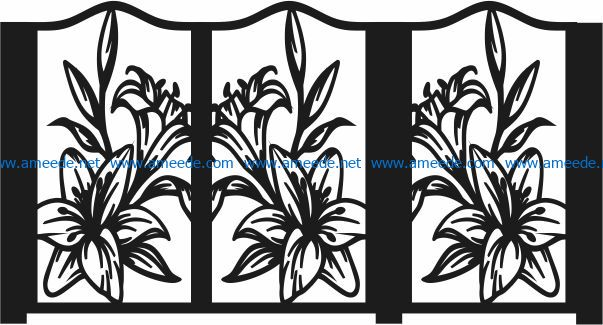 Design pattern panel screen E0007041 file cdr and dxf free vector download for Laser cut CNC