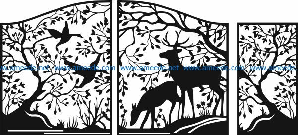 Design pattern panel screen E0007046 file cdr and dxf free vector download for Laser cut CNC