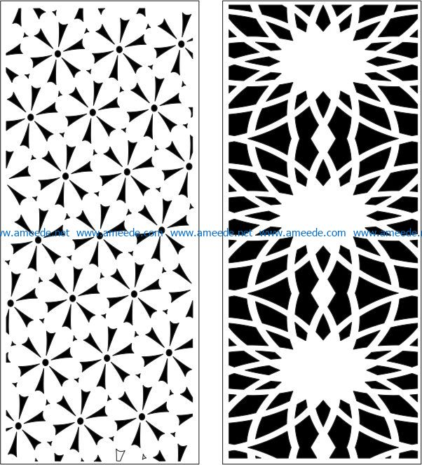 Design pattern panel screen E0007169 file cdr and dxf free vector download for Laser cut CNC