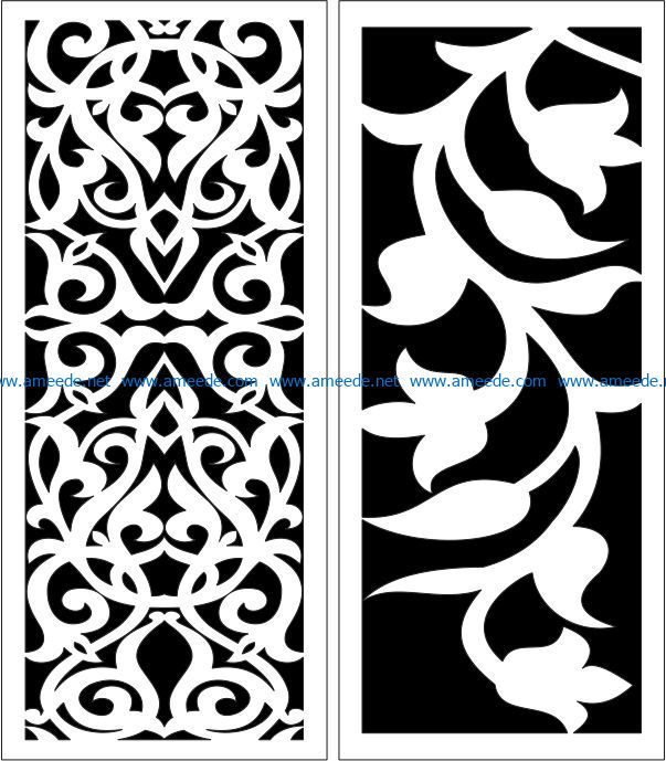 Design pattern panel screen E0007170 file cdr and dxf free vector download for Laser cut CNC