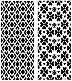 Design pattern panel screen E0007171 file cdr and dxf free vector download for Laser cut CNC