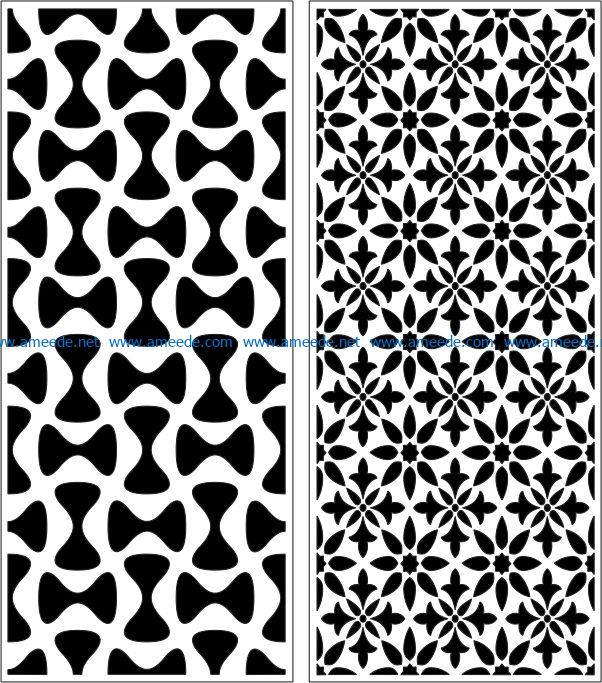 Design pattern panel screen E0007172 file cdr and dxf free vector download for Laser cut CNC