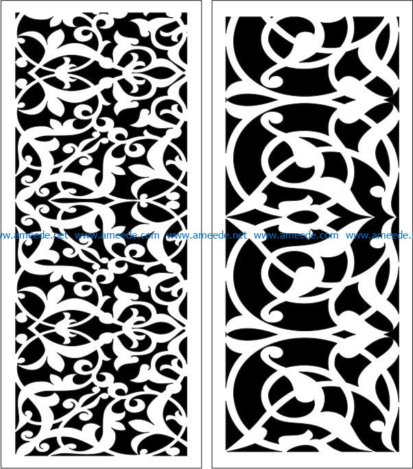 Design pattern panel screen E0007173 file cdr and dxf free vector download for Laser cut CNC