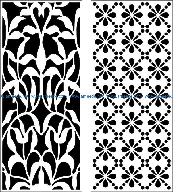 Design pattern panel screen E0007174 file cdr and dxf free vector download for Laser cut CNC