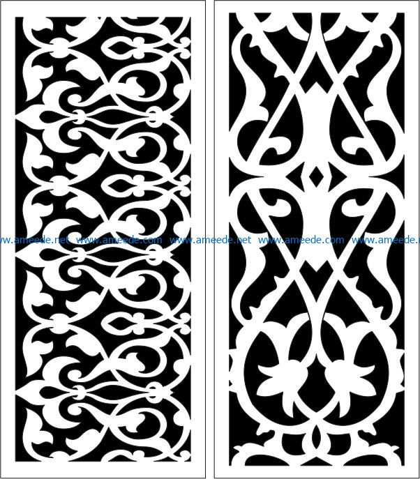 Design pattern panel screen E0007175 file cdr and dxf free vector download for Laser cut CNC