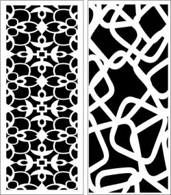 Design pattern panel screen E0007176 file cdr and dxf free vector download for Laser cut CNC