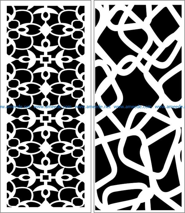 Design pattern panel screen E0007227 file cdr and dxf free vector download for Laser cut CNC
