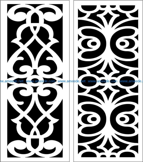 Design pattern panel screen E0007228 file cdr and dxf free vector download for Laser cut CNC