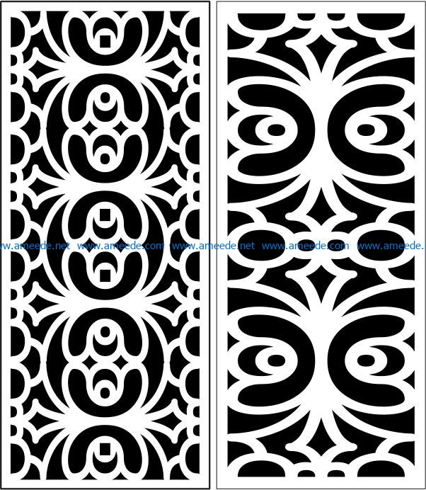 Design pattern panel screen E0007229 file cdr and dxf free vector download for Laser cut CNC
