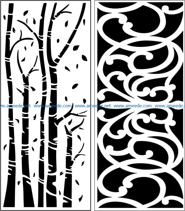 Design pattern panel screen E0007230 file cdr and dxf free vector download for Laser cut CNC