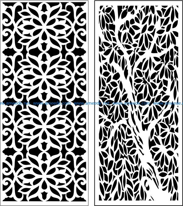Design pattern panel screen E0007231 file cdr and dxf free vector download for Laser cut CNC
