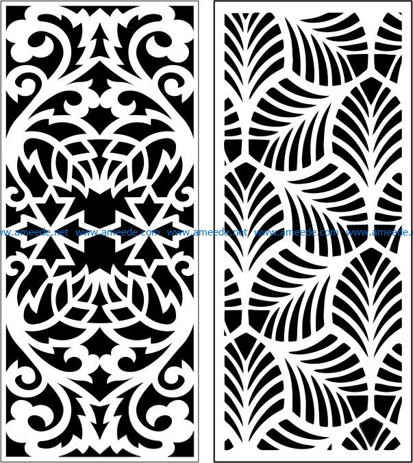 Design pattern panel screen E0007232 file cdr and dxf free vector download for Laser cut CNC