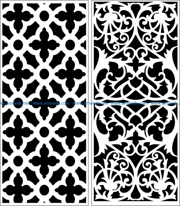 Design pattern panel screen E0007266 file cdr and dxf free vector download for Laser cut CNC