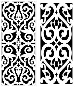 Design pattern panel screen E0007267 file cdr and dxf free vector download for Laser cut CNC
