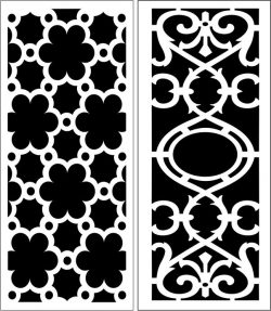 Design pattern panel screen E0007268 file cdr and dxf free vector download for Laser cut CNC