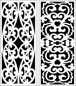 Design pattern panel screen E0007269 file cdr and dxf free vector download for Laser cut CNC