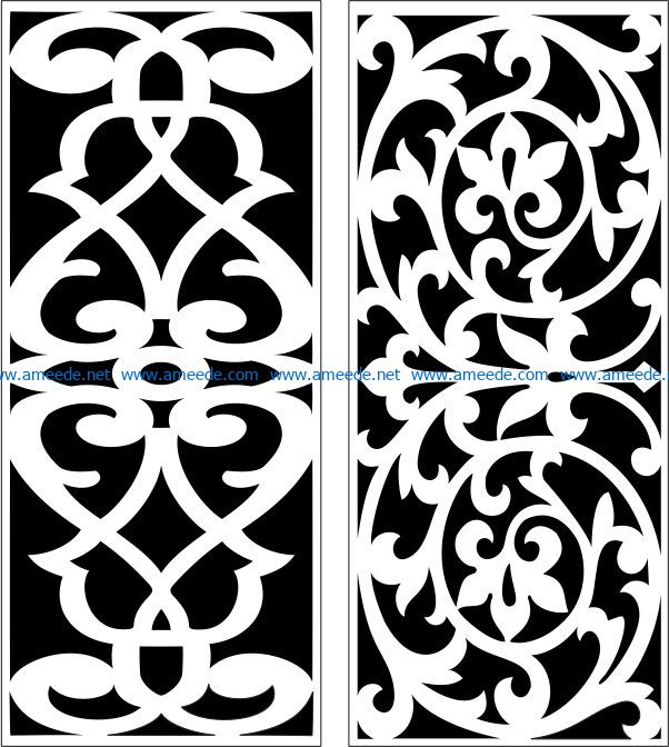 Design pattern panel screen E0007270 file cdr and dxf free vector download for Laser cut CNC