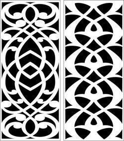 Design pattern panel screen E0007317 file cdr and dxf free vector download for Laser cut CNC