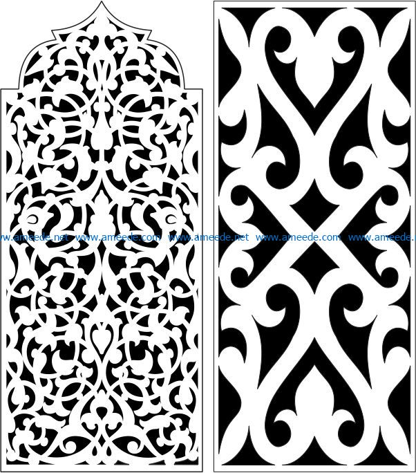 Design pattern panel screen E0007318 file cdr and dxf free vector download for Laser cut CNC