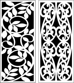 Design pattern panel screen E0007319 file cdr and dxf free vector download for Laser cut CNC