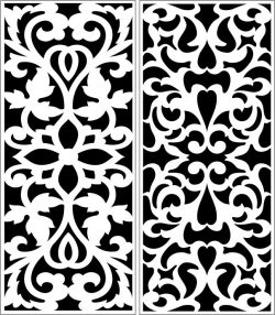 Design pattern panel screen E0007321 file cdr and dxf free vector download for Laser cut CNC