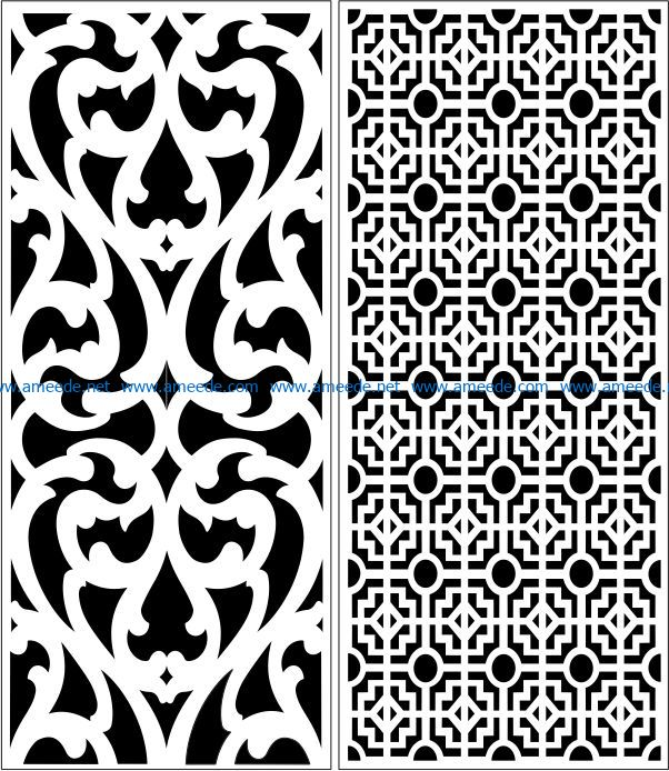 Design pattern panel screen E0007322 file cdr and dxf free vector download for Laser cut CNC