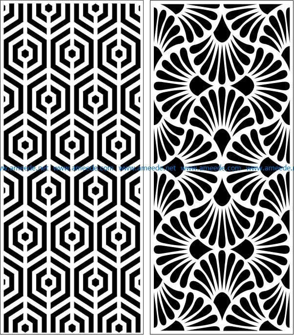 Design pattern panel screen E0007324 file cdr and dxf free vector download for Laser cut CNC