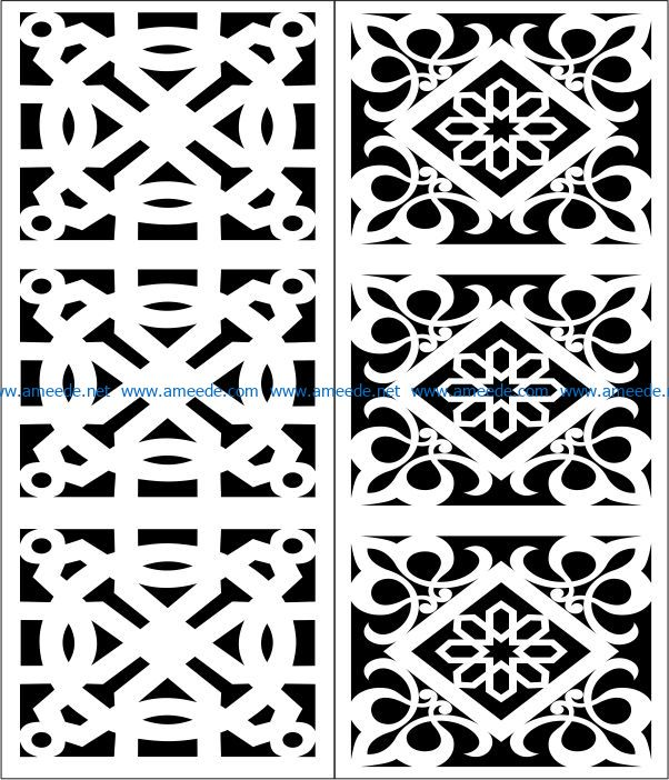 Design pattern panel screen E0007384 file cdr and dxf free vector download for Laser cut CNC