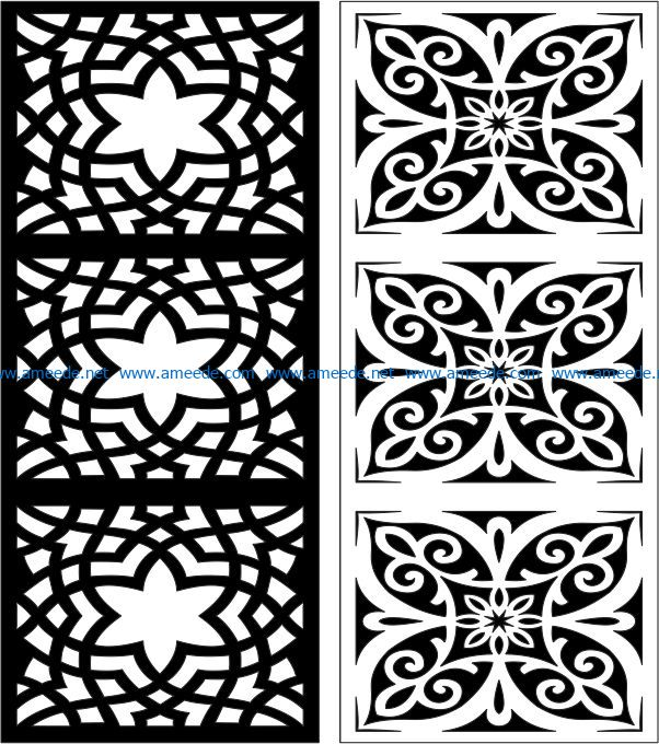 Design pattern panel screen E0007386 file cdr and dxf free vector download for Laser cut CNC
