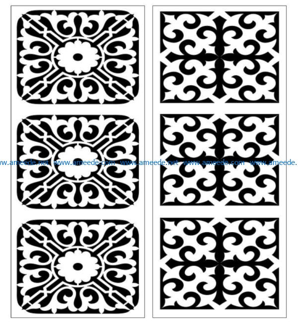 Design pattern panel screen E0007395 file cdr and dxf free vector download for Laser cut CNC