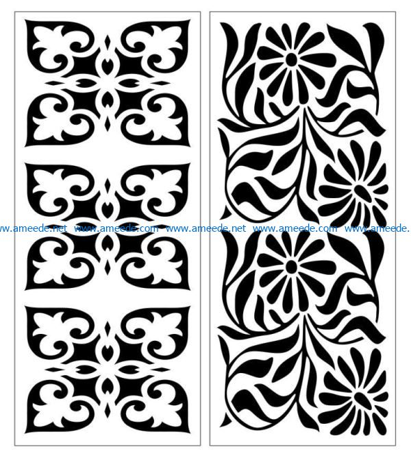 Design pattern panel screen E0007396 file cdr and dxf free vector download for Laser cut CNC