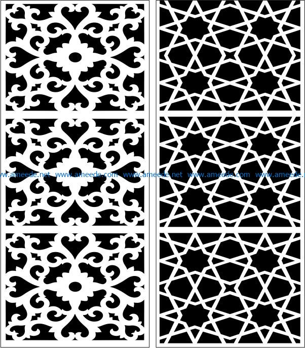 Design pattern panel screen E0007397 file cdr and dxf free vector download for Laser cut CNC