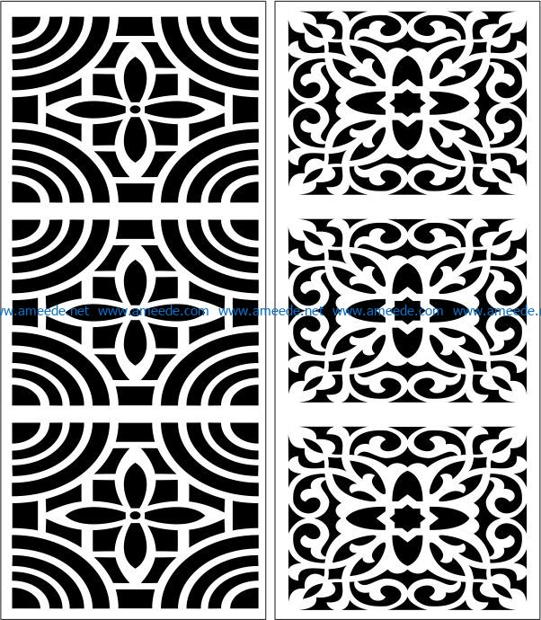 Design pattern panel screen E0007398 file cdr and dxf free vector download for Laser cut CNC