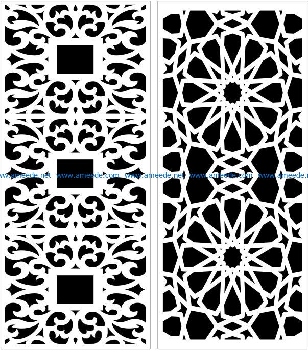 Design pattern panel screen E0007447 file cdr and dxf free vector download for Laser cut CNC