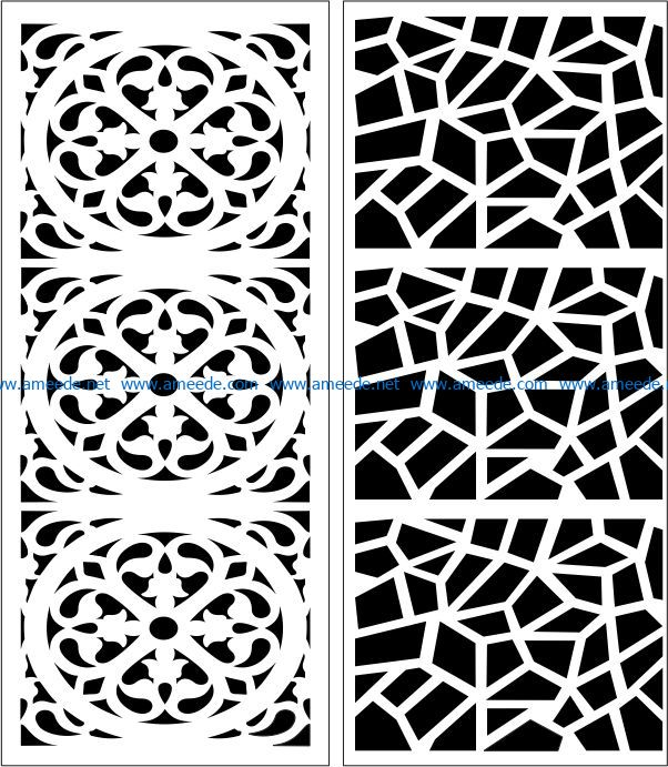 Design pattern panel screen E0007448 file cdr and dxf free vector download for Laser cut CNC
