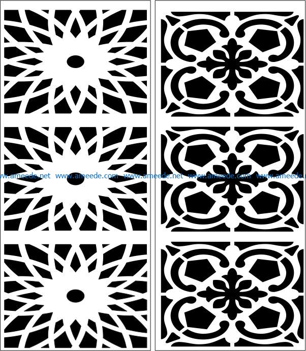 Design pattern panel screen E0007449 file cdr and dxf free vector download for Laser cut CNC