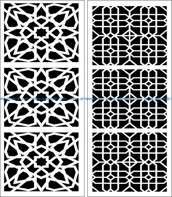 Design pattern panel screen E0007507 file cdr and dxf free vector download for Laser cut CNC