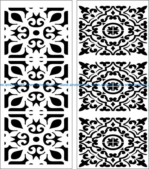 Design pattern panel screen E0007508 file cdr and dxf free vector download for Laser cut CNC