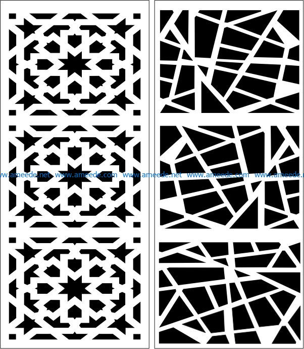 Design pattern panel screen E0007509 file cdr and dxf free vector download for Laser cut CNC