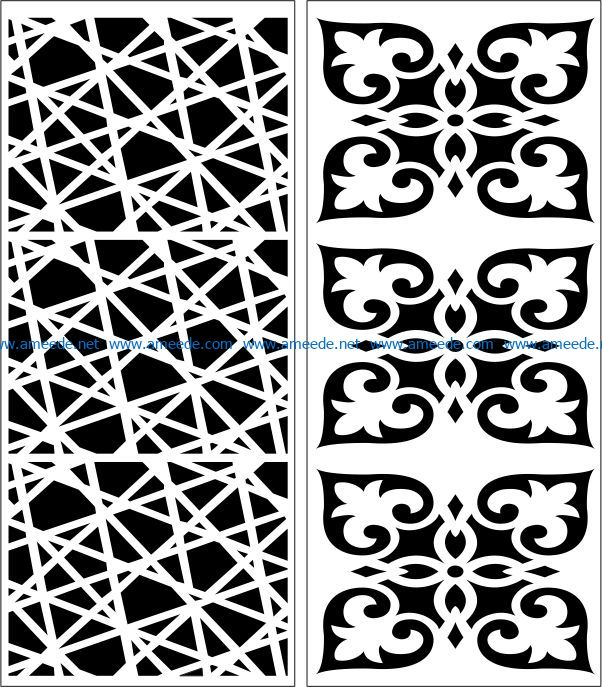 Design pattern panel screen E0007510 file cdr and dxf free vector download for Laser cut CNC