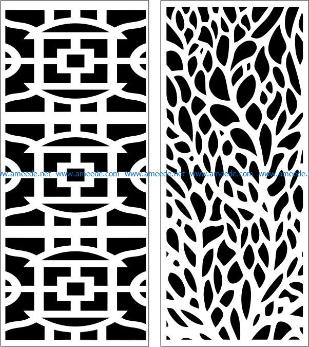 Design pattern panel screen E0007511 file cdr and dxf free vector download for Laser cut CNC