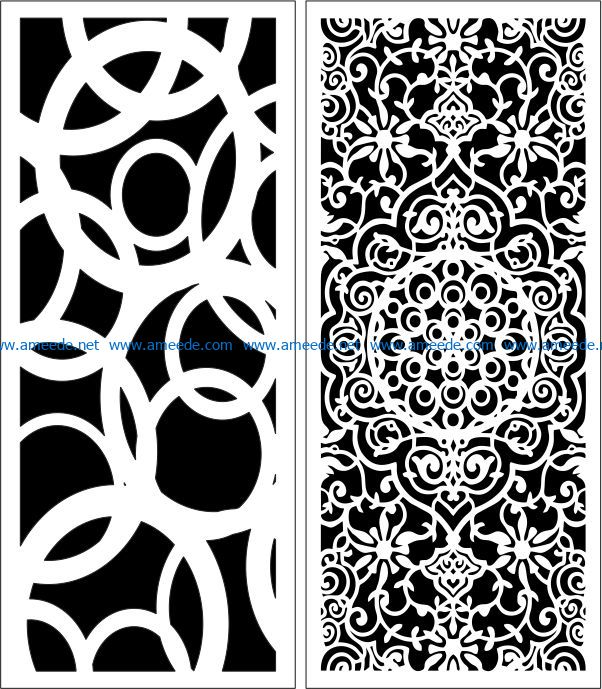 Design pattern panel screen E0007512 file cdr and dxf free vector download for Laser cut CNC