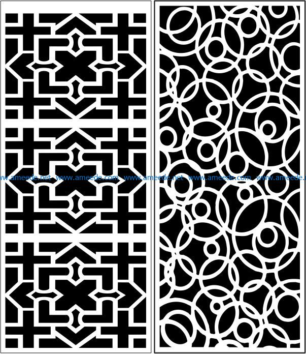 Design pattern panel screen E0007546 file cdr and dxf free vector download for Laser cut CNC