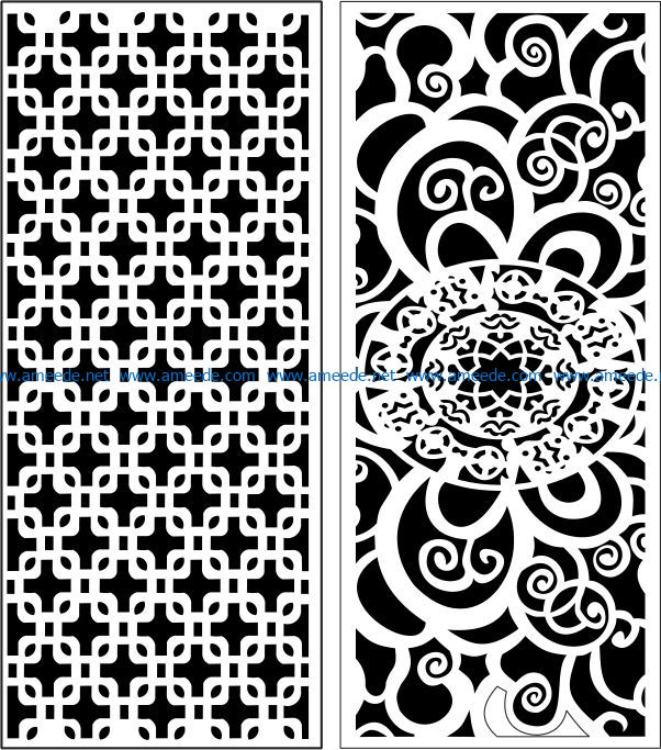 Design pattern panel screen E0007547 file cdr and dxf free vector download for Laser cut CNC
