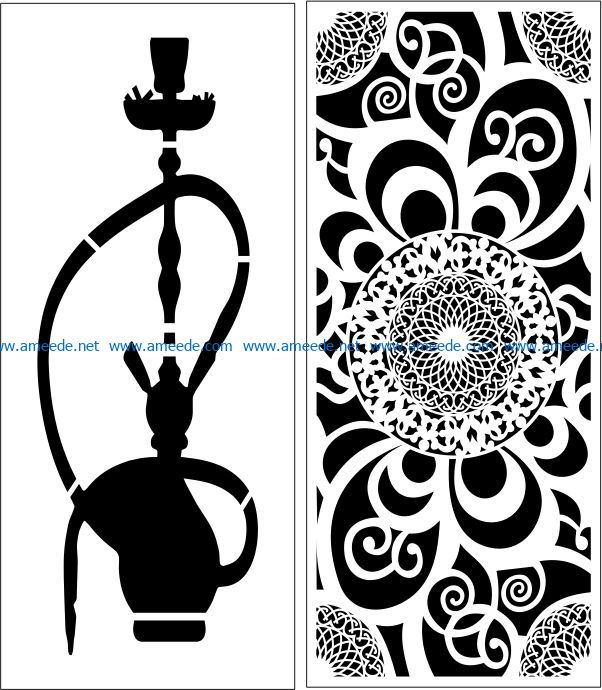 Design pattern panel screen E0007548 file cdr and dxf free vector download for Laser cut CNC