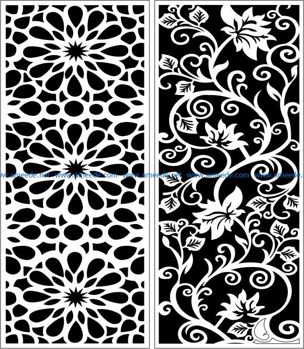Design pattern panel screen E0007549 file cdr and dxf free vector download for Laser cut CNC