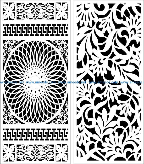 Design pattern panel screen E0007599 file cdr and dxf free vector download for Laser cut CNC