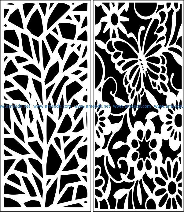 Design pattern panel screen E0007600 file cdr and dxf free vector download for Laser cut CNC