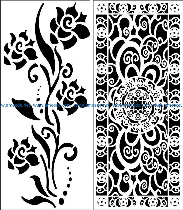 Design pattern panel screen E0007601 file cdr and dxf free vector download for Laser cut CNC