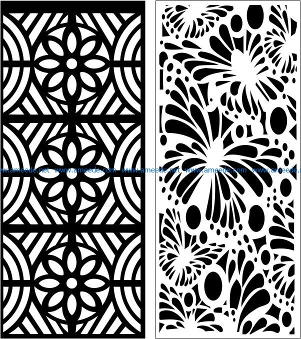 Design pattern panel screen E0007649 file cdr and dxf free vector download for Laser cut CNC